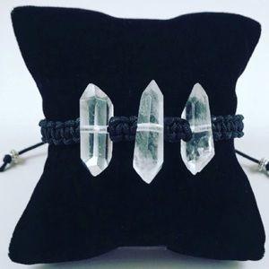 Silverskylight Jewelry - Genuine 3 double point crystal quartz adjustable